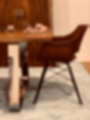 Tischbein Nr. 3  Edelstahl poliert