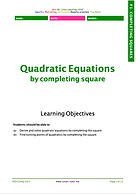 Completing Square