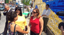 "Councilwoman Rose attends unveiling of ""Mariposas Amarillas"""