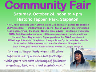 Join me for my Community Fair, Oct. 24!