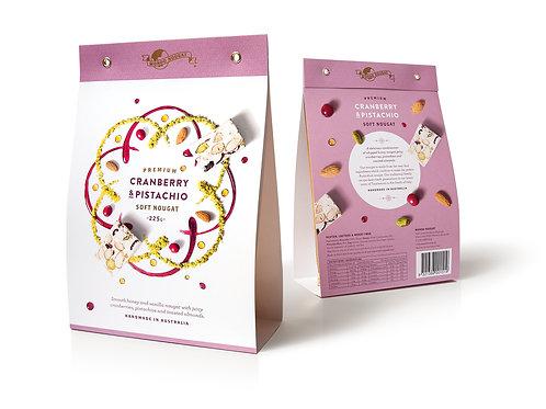 Cranberry & Pistachio Soft Nougat – 225g
