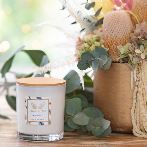 Triple Scented Large Soy Candle - Lemongrass 425g
