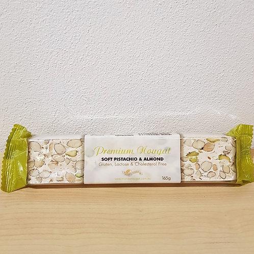 Pistachio & Almond Soft Nougat Bar– 165g