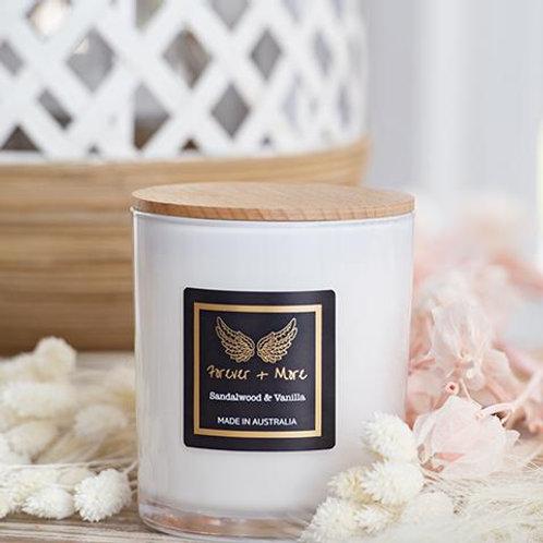 Triple Scented Large Soy Candle - Sandalwood & Vanilla