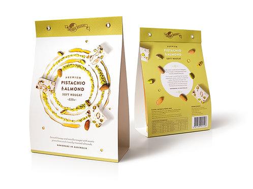 Pistachio & Almond Soft Nougat – 225 g