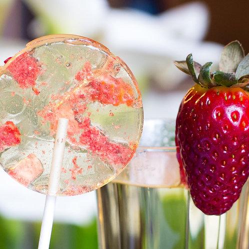 Champagne & Strawberries Lollipop