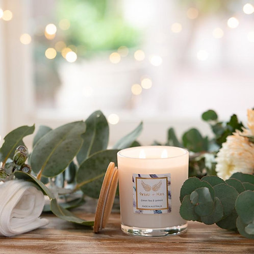 Large Soy Candle - Green Tea and Lemon 425g