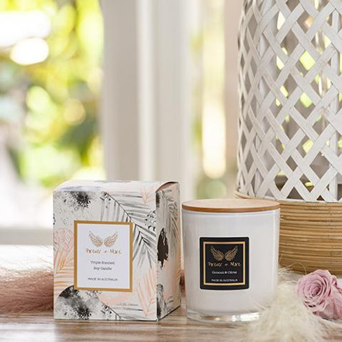 Triple Scented Large Soy Candle - Coconut & Citrus