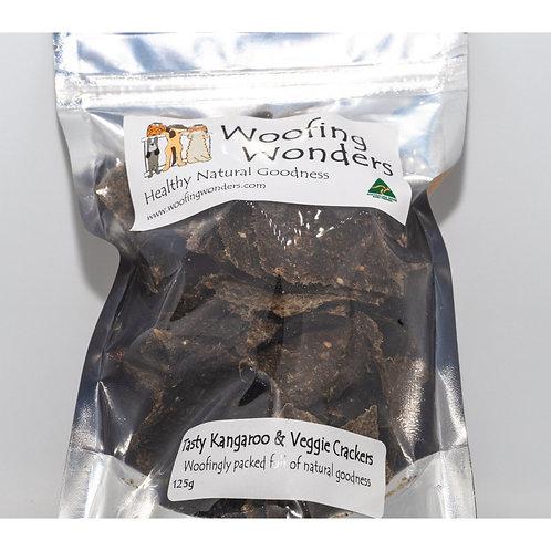 Tasty Kangaroo & Veggie Crackers 125g