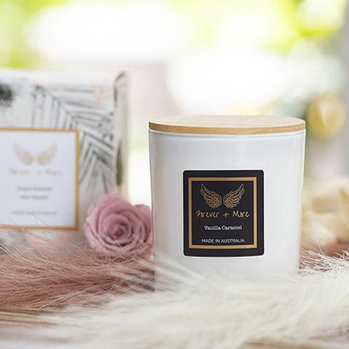 Triple Scented Large Soy Candle - Vanilla Caramel