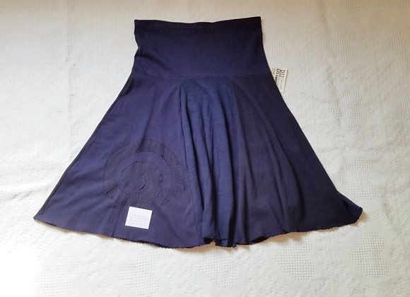 Navy Blue Twirly Skirt with Spiral size M