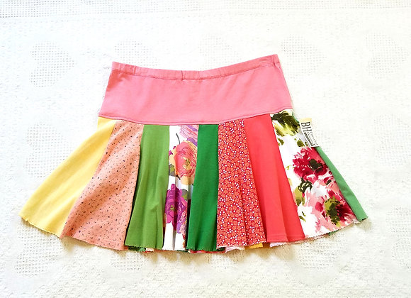 Peach Mini Twirly Skirt