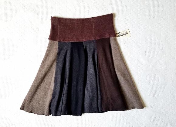 Wool Knee Length Twirly Skirt size S-M