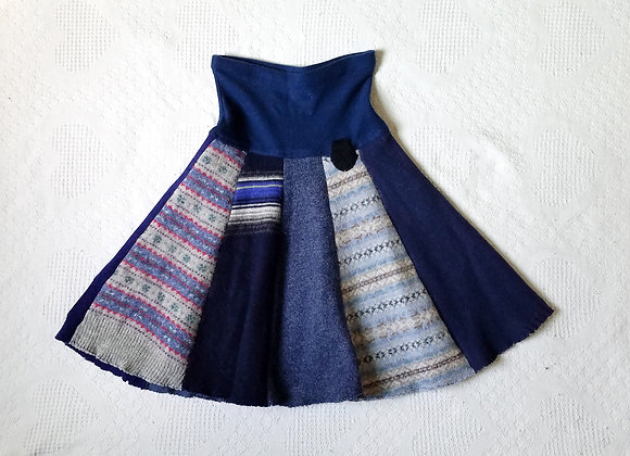 Wool Knee Length Twirly Skirt size XS