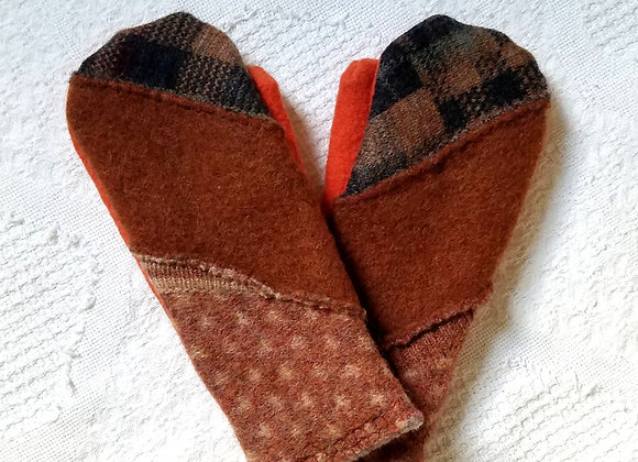 Thick Cashmere-Lined Mittens