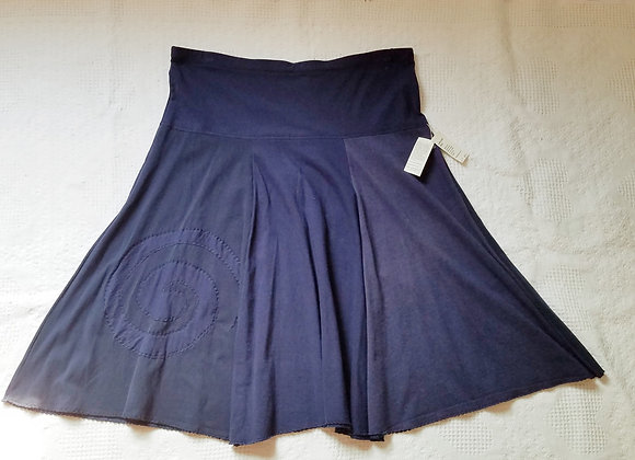 Navy Blue Twirly Skirt with Spiral size XL