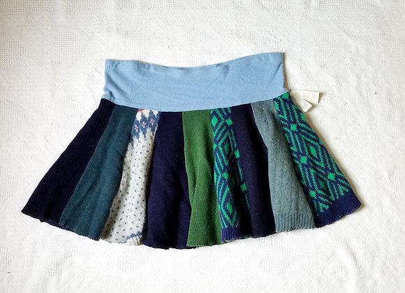 Wool Knee Length Twirly Skirt size XL+