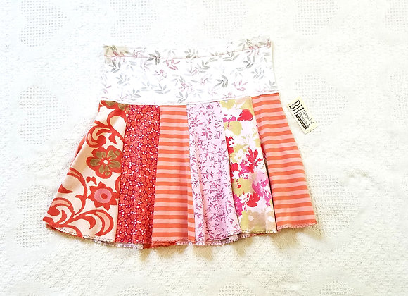 Peach and Orange Mini Twirly Skirt