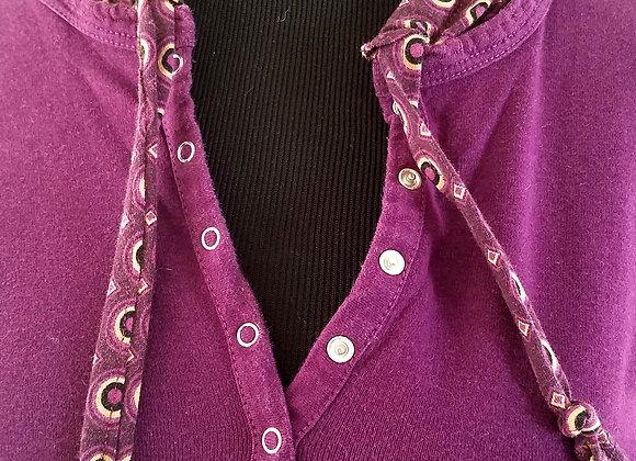 Purple Hoodie with Circles Print