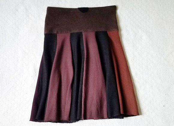 Wool Knee Length Twirly Skirt size S-M
