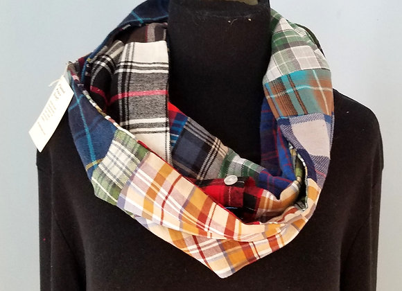 Flannel Infinity Scarf with Pocket