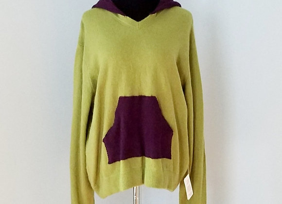Lime and Grape Cashmere Hoodie