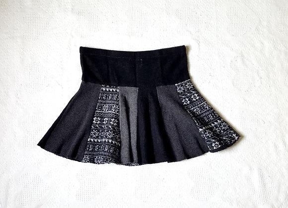 Wool Mini Twirly Skirt size L