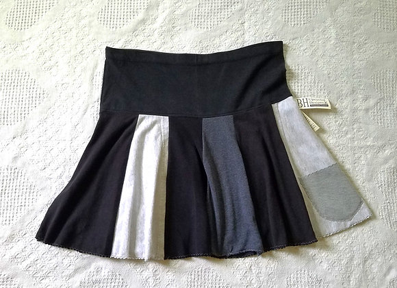 Black and Gray Mini Twirly Skirt size M-L