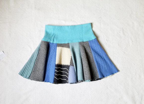 Wool Mini Twirly Skirt size M