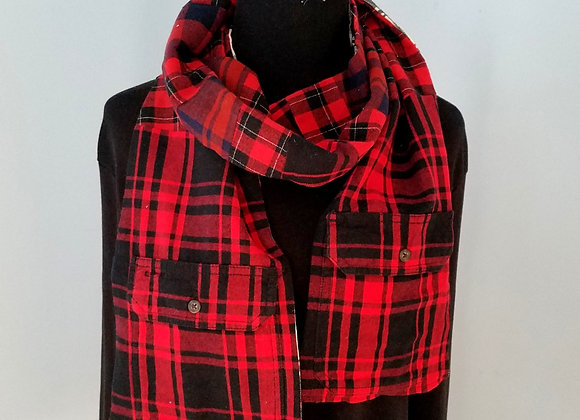 Flannel Scarf with Pockets