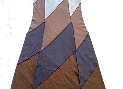 Neutral Tones Cotton Midi Skirt, size XS