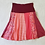 Thumbnail: Coral and Wine Twirly Skirt size S