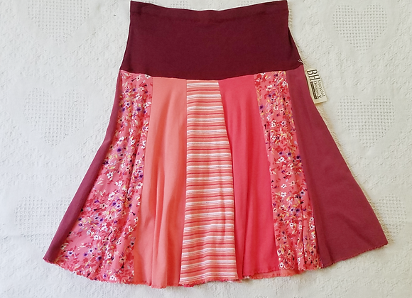 Coral and Wine Twirly Skirt size S