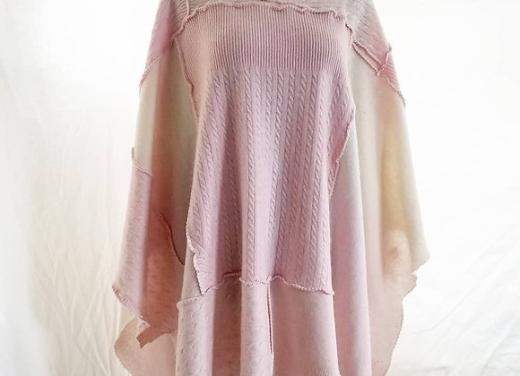 Pastel Pinks Cashmere Poncho
