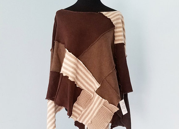 Earthy Browns Cashmere Poncho