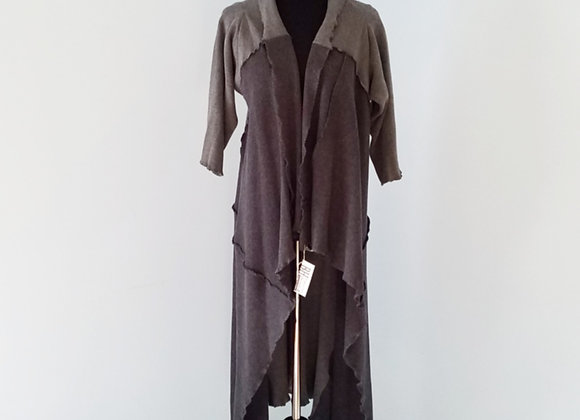 Charcoal and Gray Cotton Duster size S