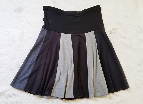 Gray and Black Solids Twirly Skirt size M/L