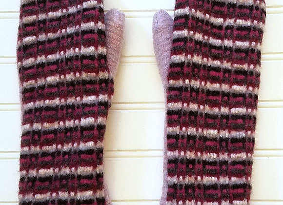 Pink and Black Thick Cashmere-lined mittens