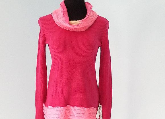 Cowl Neck, Shirt-tail Cashmere Sweater size XS