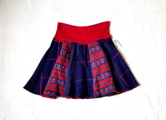 Wool Knee Length Twirly Skirt size L