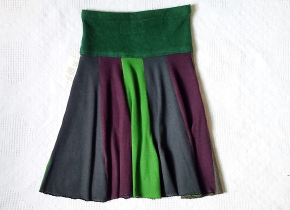 Wool Knee Length Twirly Skirt size S