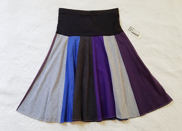 Blue, Purple and Gray Twirly Skirt size S