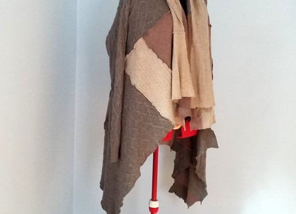 Brown Earth Tones Cardigan