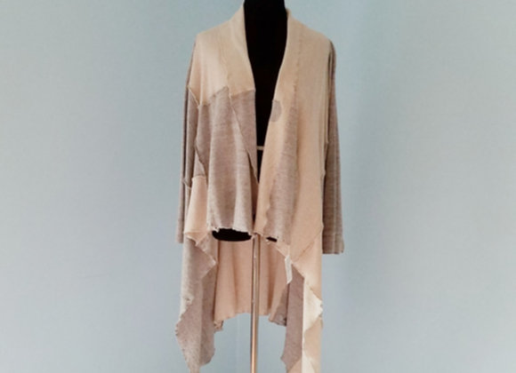Cream and Gray Cotton Duster size M