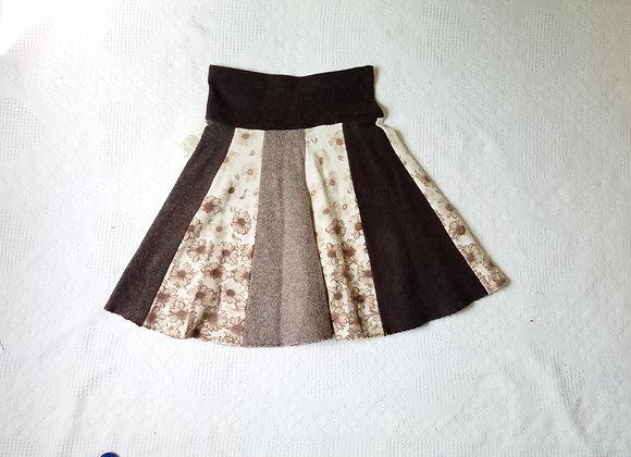 Wool Knee Length Twirly Skirt size S