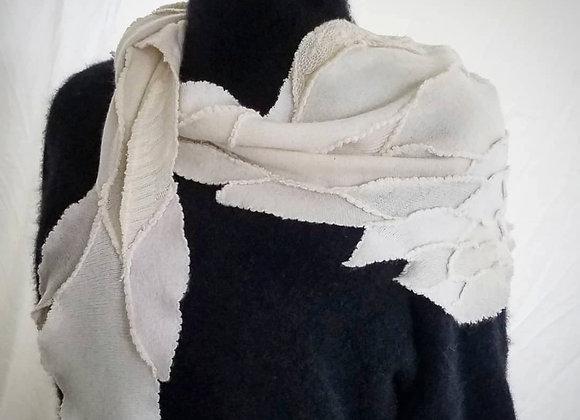 White on White Cashmere Shawl