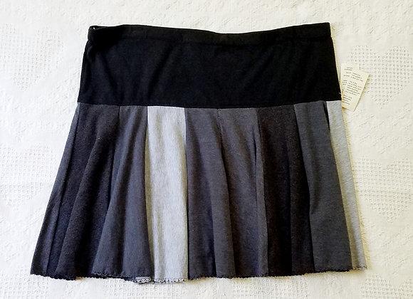 Black and Gray Mini Twirly Skirt size XL