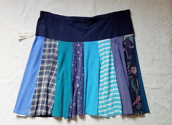 Spunky Blues Twirly Skirt Size XL
