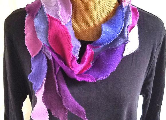 Purple, Fuschia and Periwinkle Scarflet