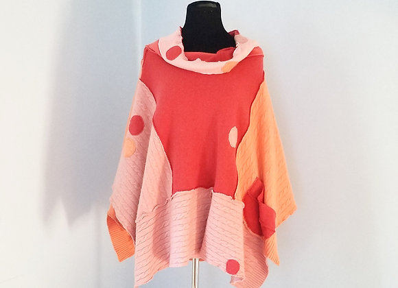 Thick, Textured Cashmere Poncho